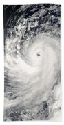 Typhoon Man-yi Beach Towel