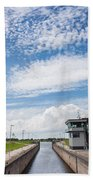 Typical Dutch Lock And Control Room Beach Towel