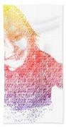Typography Portrait Childhood Wonder Beach Towel by Nikki Marie Smith