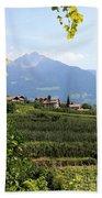 Tyrolean Alps And Vineyard Beach Towel