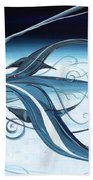 U2 Spyfish - Spy Plane As Abstract Fish - Beach Sheet