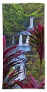 Umauma Falls Big Island Hawaii Beach Towel