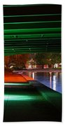 Under The Bridge Beach Towel by Joann Vitali
