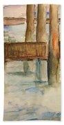 Under The Docks Beach Towel