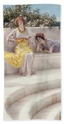 Under The Roof Of Blue Ionian Weather Beach Towel by Sir Lawrence Alma-Tadema