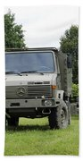 Unimog Truck Of The Belgian Army Beach Towel by Luc De Jaeger