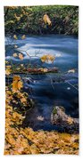 Union Creek In Autumn Beach Towel
