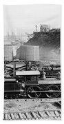 Union Locomotive, C1864 Beach Towel