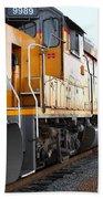 Union Pacific Locomotive Trains . 7d10588 Beach Towel