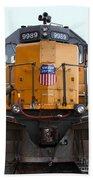 Union Pacific Locomotive Trains . 7d10589 Beach Towel