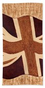 United Kingdom Flag Coffee Painting Beach Sheet