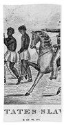 United States Slave Trade Beach Towel by Photo Researchers