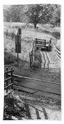Unmanned Railway Crossing At Hope Beach Towel