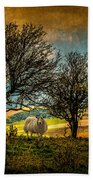Up On The Sussex Downs In Autumn Beach Towel