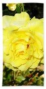 Upbeat Yellow Rose Beach Towel