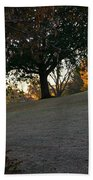 Uphill Sunrise Beach Towel