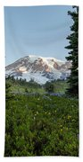 Upon A Hill Of Flowers Beach Towel