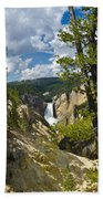 Upper Falls II Beach Towel