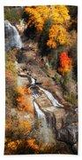 Upper Whitewater Falls Beach Towel
