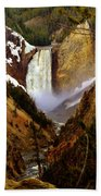 Upper Yellowstone Falls Beach Towel