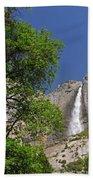 Upper Yosemite Falls Beach Towel