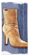 Urban Cowgirl Suede Boots Beach Towel
