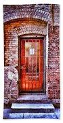 Urban Door In Old Brick Building Beach Towel