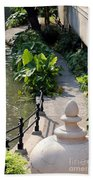 Urn And Pathway Beach Towel
