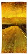 Us 50 - The Loneliest Road In America Beach Towel