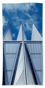 Us Air Force Academy Chapel Beach Towel
