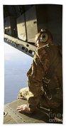U.s. Air Force Commander Sits Harnessed Beach Towel