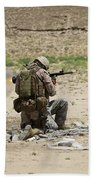 U.s. Army Soldier Fires Beach Towel