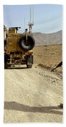 U.s. Army Soldier Moves To His Mrap Beach Towel