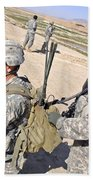 U.s. Army Soldiers Call In An Update Beach Towel