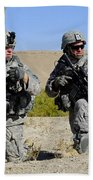 U.s. Army Soldiers Familiarize Beach Towel