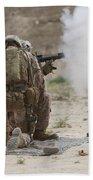 U.s. Marine Fires A Rocket-propelled Beach Towel