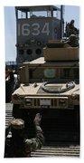 U.s. Marines Load An M1114 Humvee Onto Beach Towel