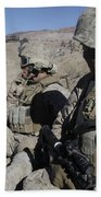 U.s. Marines Take A Break Beach Towel