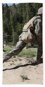 U.s. Marines Training At The Mountain Beach Towel by Stocktrek Images