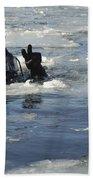 U.s. Navy Diver Signals He Is Okay Beach Towel