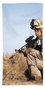 U.s. Navy Soldier Participates Beach Towel