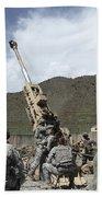 U.s. Soldiers Prepare To Fire Beach Towel