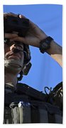 U.s. Special Operations Soldier Looks Beach Towel