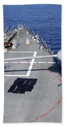 Uss Halsey Fires Its Mk-45 Beach Towel