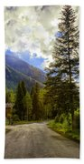 Vail Country Road 1 Beach Towel