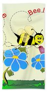 Valentine Bee Mine Beach Towel