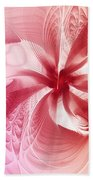 Valentine Flower Beach Towel