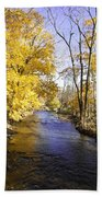 Valley Forge Creek In Autumn Beach Towel