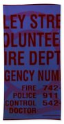 Valley Stream Fire Department In Blue Beach Towel by Rob Hans
