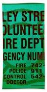 Valley Stream Fire Department In Irish Green Beach Towel